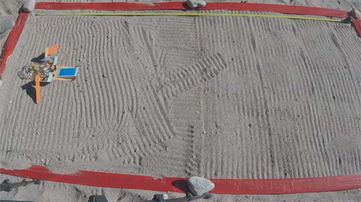 The team wanted to come up with the best solution on how to travel over sand. (Source: 3TV/CBS 5)