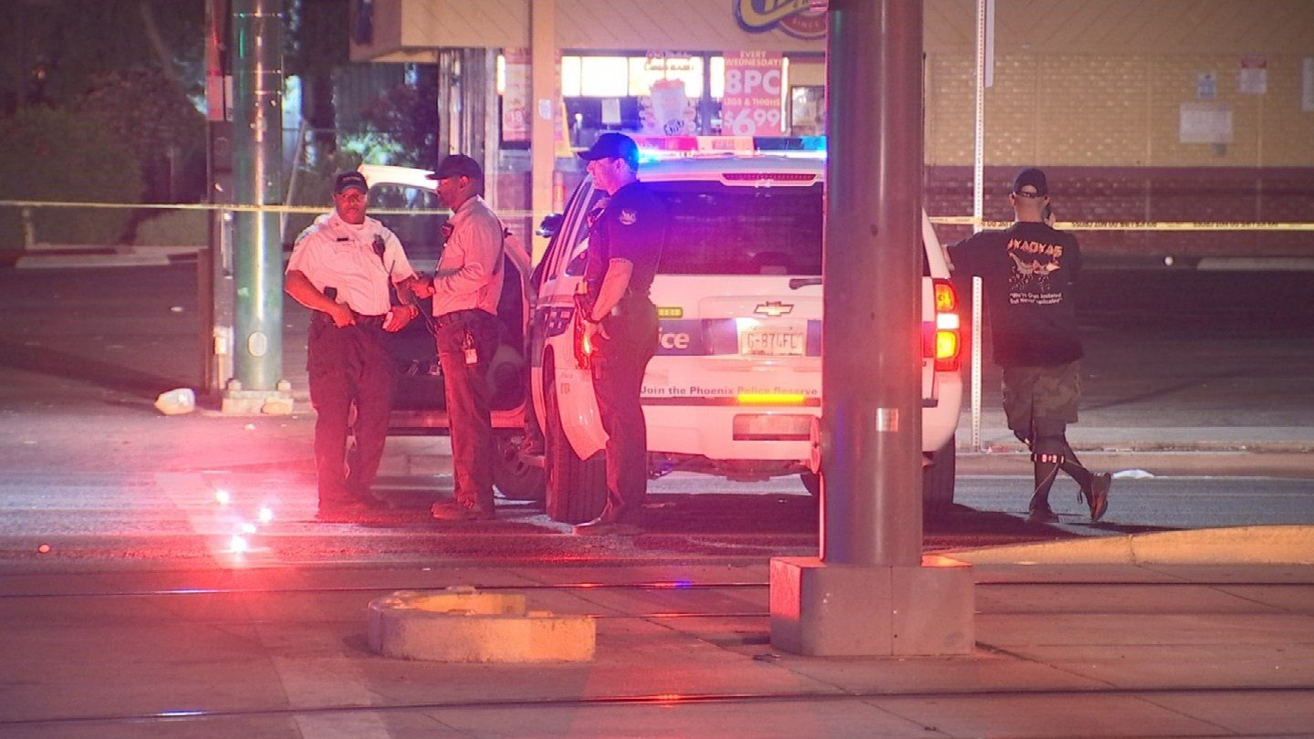 Phoenix police said that a person was hit by a car after exiting the light rail near 19th Avenue and Camelback Road Tuesday morning.(Source: 3TV/ CBS 5)