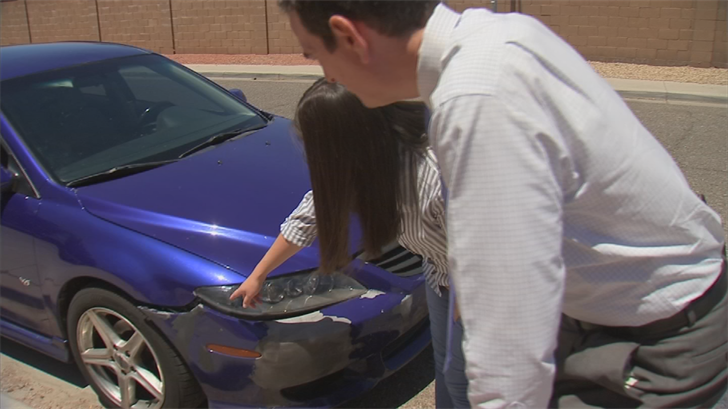 Ashley Gonzalez says a Sam's Club auto mechanic damaged her car and the store's insurer has been brushing her off for almost a year regarding repairs. (Source: 3TV/CBS 5)