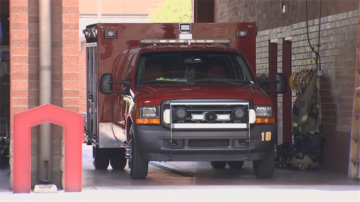 Firefighters created a truck using a bunch of spare parts at their maintenance lot. (Source: 3TV/CBS 5)