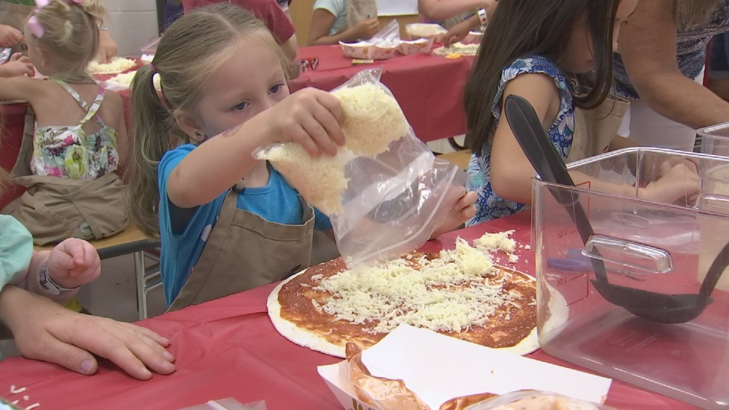 During Pizza Camp, kids got the opportunity to create their very own personal pizza. (Source: 3TV/CBS 5)