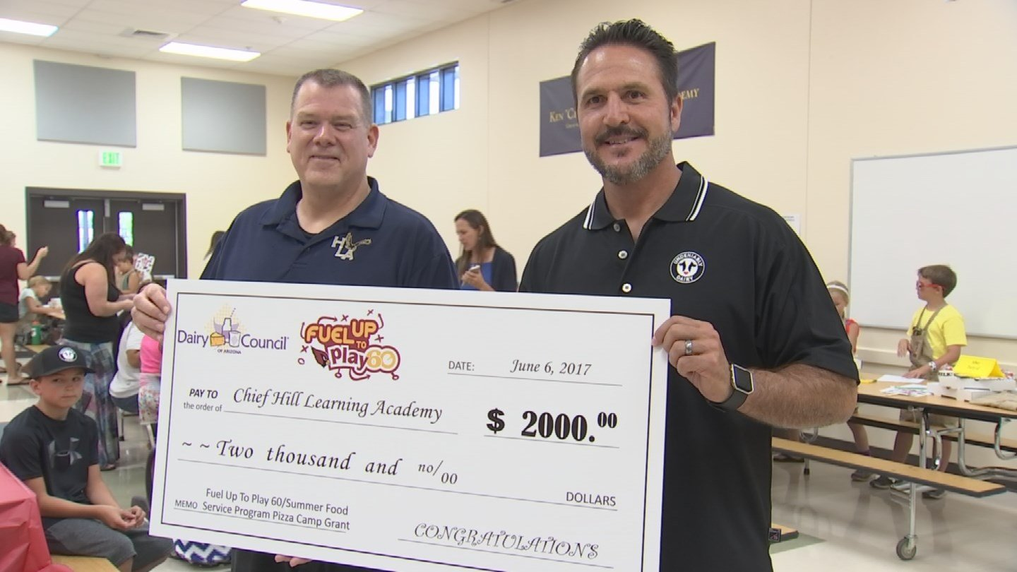 The Dairy Council of Arizona donated $2000 to Chief Hill Learning Academy and 23 other schools. (Source: 3TV/CBS 5)