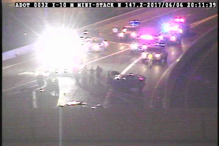 A crash closed SR 51 southbound at McDowell. (Source: ADOT)