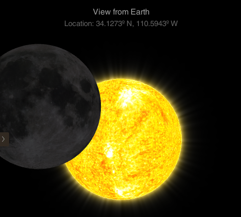What the eclipse will look like at 11:35 a.m. (Source: NASA)