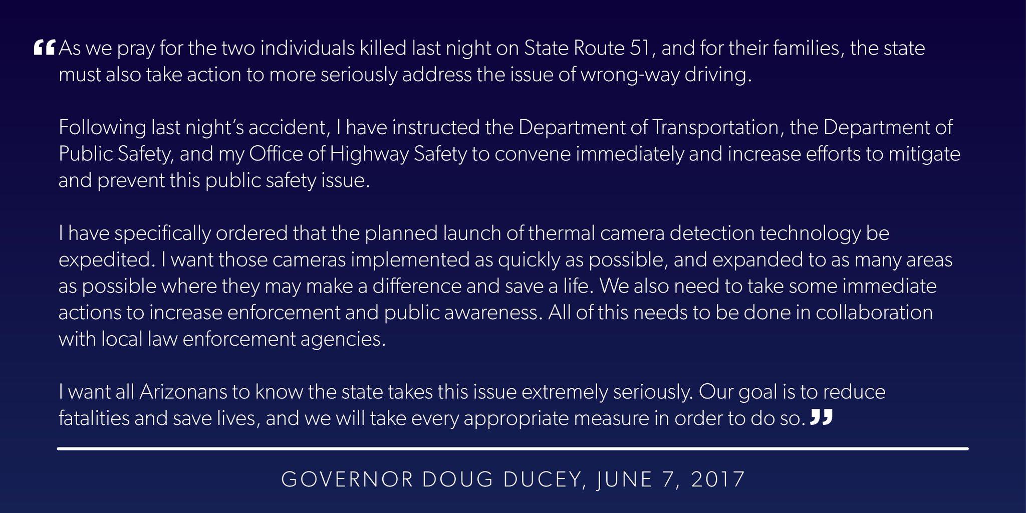 (Source: Governor Doug Ducey)