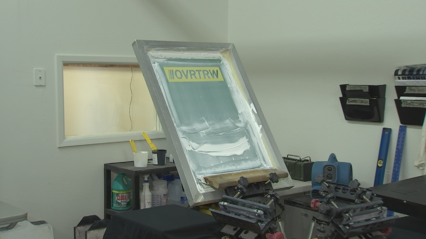 The Overthrow team designs the patterns, selects fabrics and tests all of the styles themselves. (Source: 3TV/CBS 5)