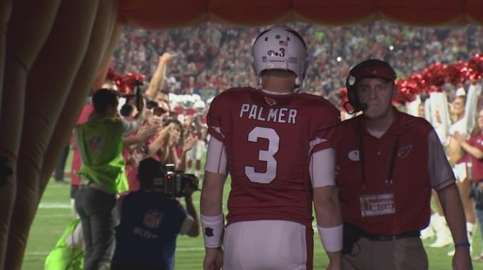 Carson Palmer is in the twilight of his career and hoping to get a ring. (Source: 3TV/CBS 5)