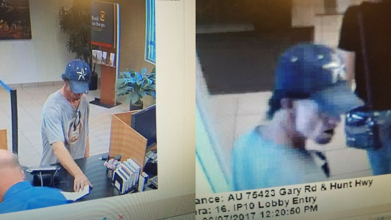 A man wearing a gray t-shirt robbed a Wells Fargo in San Tan Valley. (Source: Pinal County Sheriff's Office)
