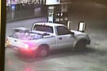 The white Toyota Tacoma the suspects were allegedly seen traveling in, police said. (Source: Scottsdale Police Department)