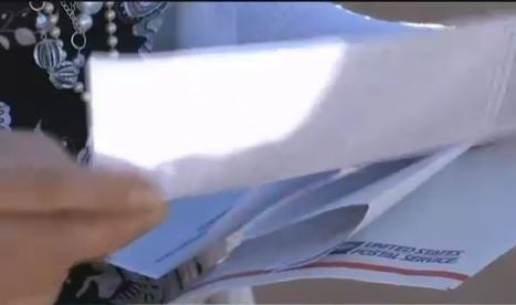 Out of nowhere, Christman got a text message telling her to expect this envelope in the mail. (Source: 3TV/CBS 5)