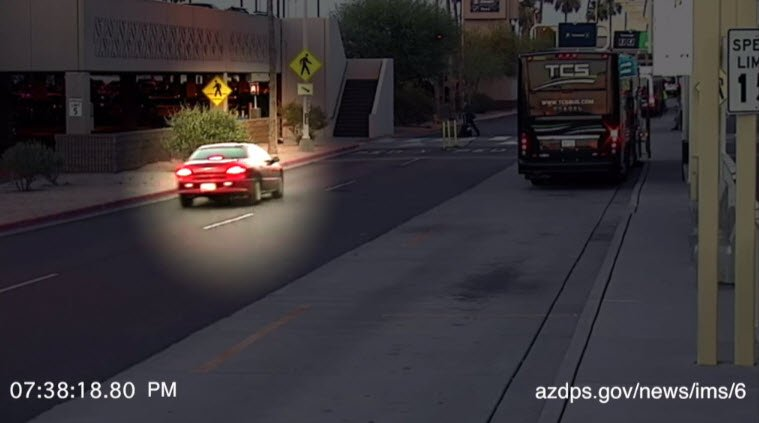DPS released surveillance video of Mollenahuer driving at Phoenix Sky Harbor Airport prior to the fatal crash. (Source: DPS)