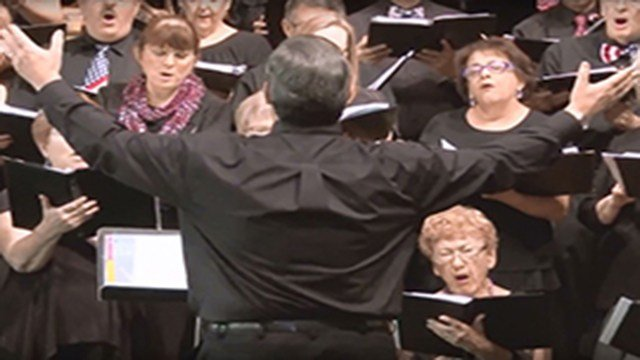 Matt Deller founded the Sounds of the Southwest Singers with his wife, Leann, six years ago. The choir, now 150 voices strong, was a way to give back to their community, he said. (Source: Alex Valdez/Cronkite News)