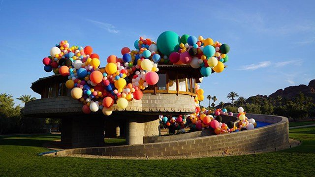 Celebrating Lloyd's 150th Birthday with the March Balloon Design (Source: David Wright House)