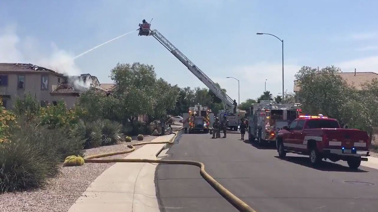 Three family members escaped safely from a house fire in Mesa. (Source: Mesa Fire and Medical Dept.)