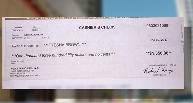 3 On Your Side helped Tyesha Brown get $1,350 back -- money she was scammed out of while searching for a place to rent. (Source: 3TV/CBS 5)
