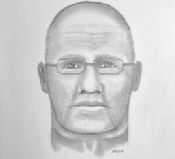 The sketch of the man police say flashed a female ASU student. (Source: Arizona State University Police Department)