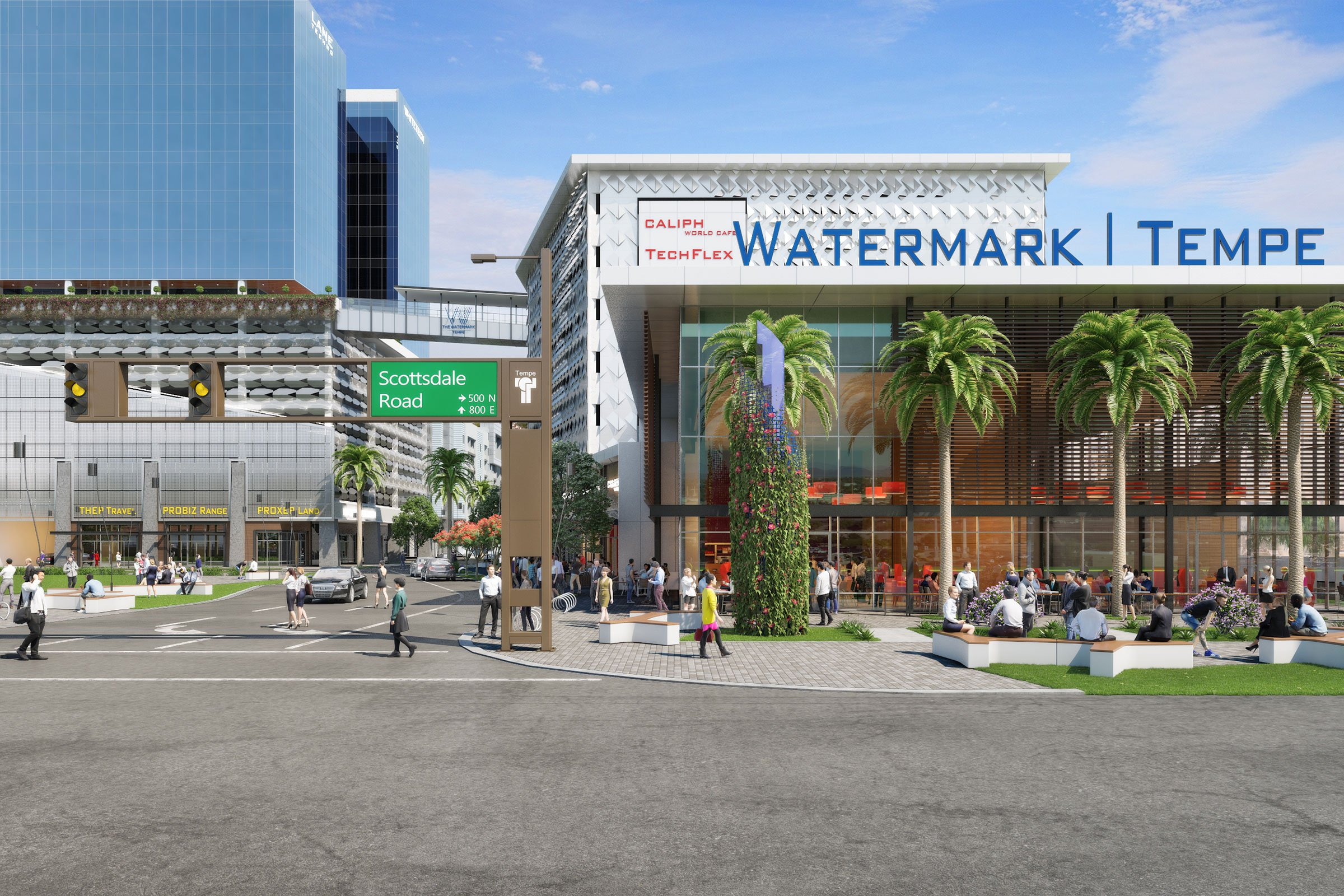 The Watermark is Tempe's first vertically integrated mixed-use development.