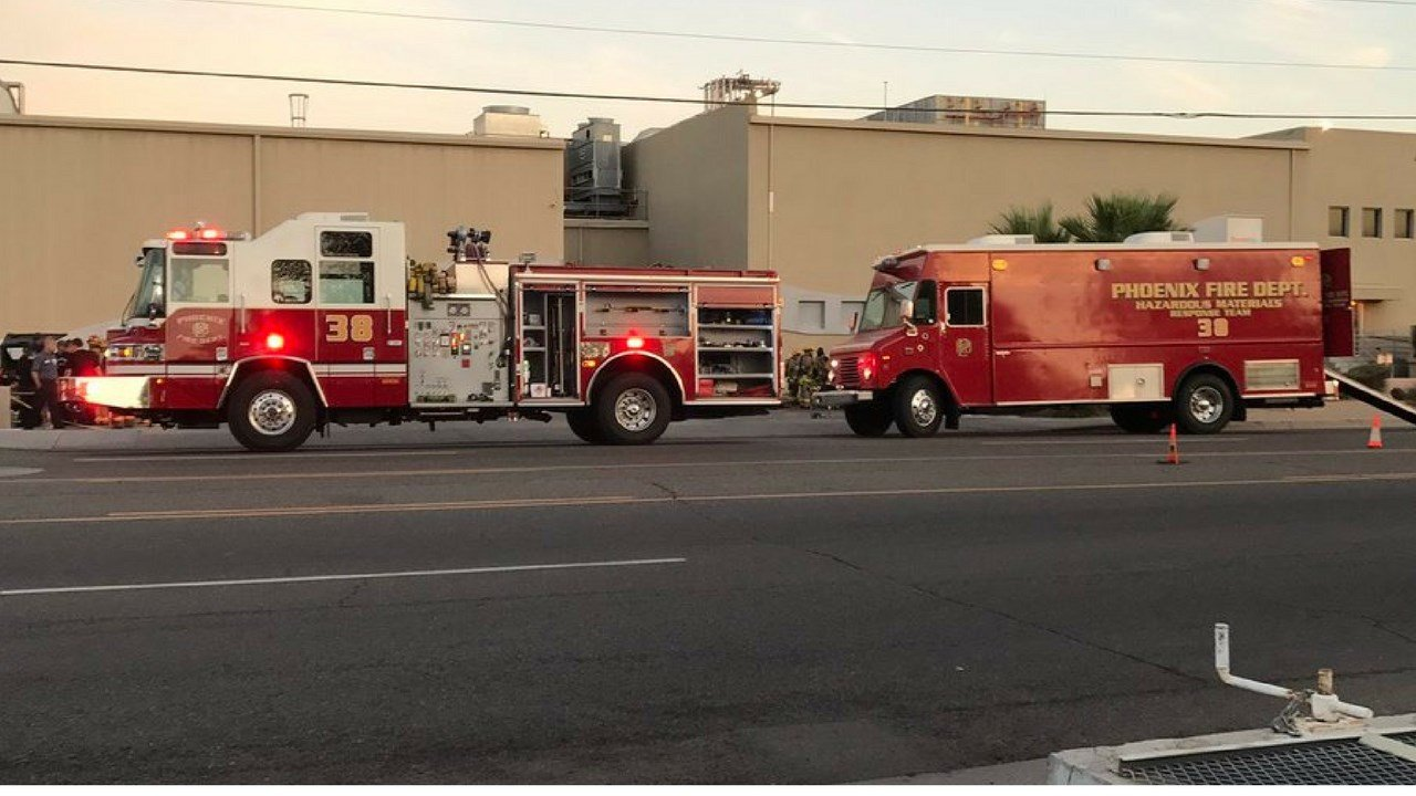 Phoenix firefighters are responding to an ammonia leak at Reddy Ice Warehouse near 40th St and Broadway Road. (Source: Phoenix Fire)