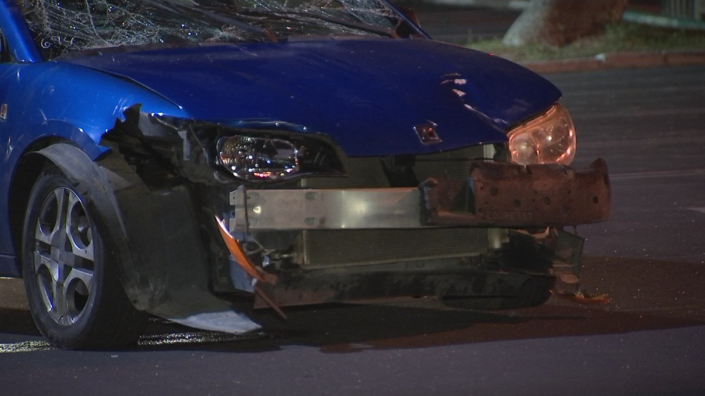 Car involved in the crash. (Source: 3TV/ CBS 5)