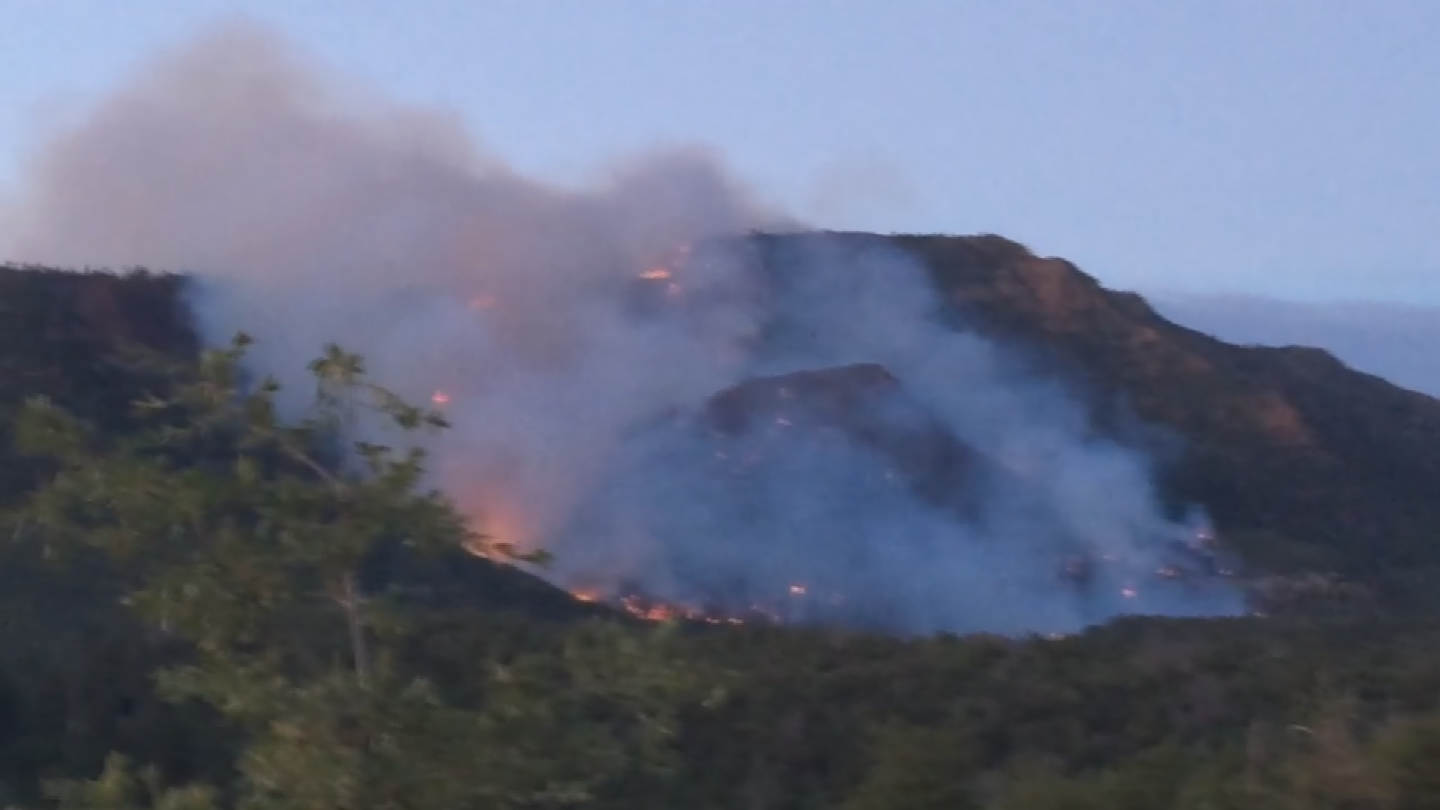 The Highline Fire started on Saturday. (Source: 3TV/CBS 5)