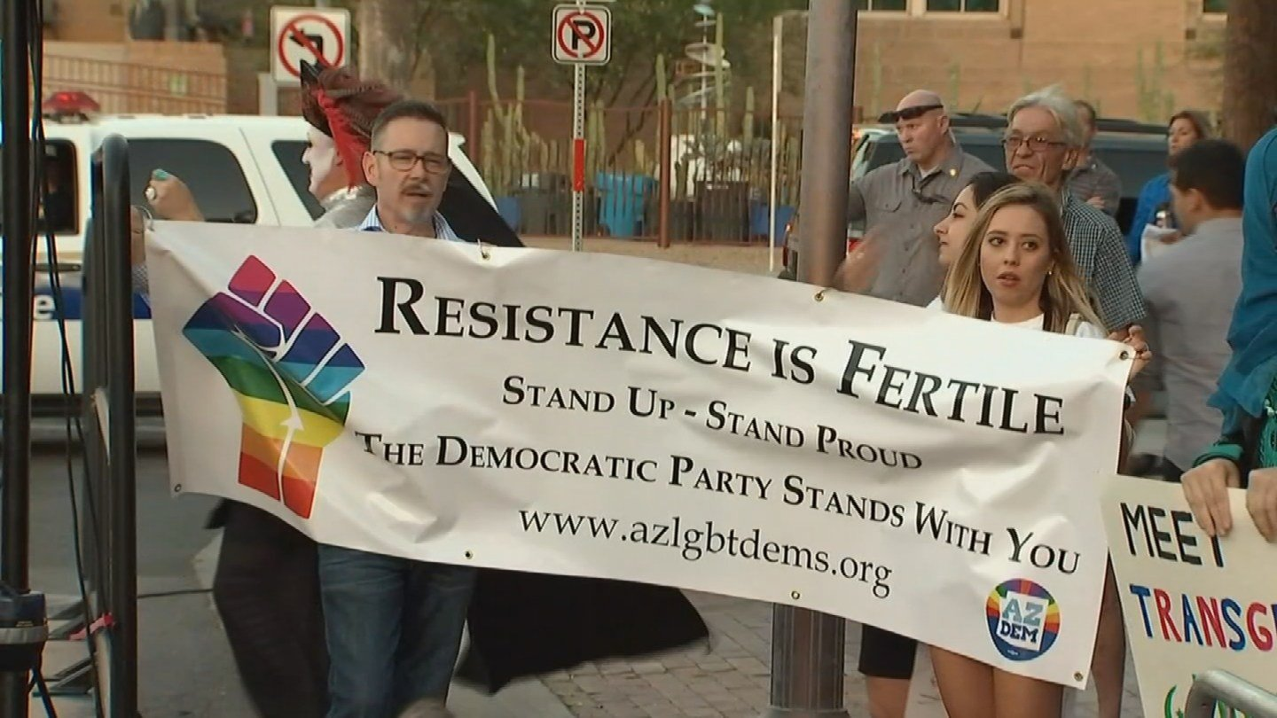 Participants said it's a way of voicing their concerns over the current political landscape and how they feel it's threatening the progress that has been made in the LGBTQ community. (Source: 3TV/CBS 5)