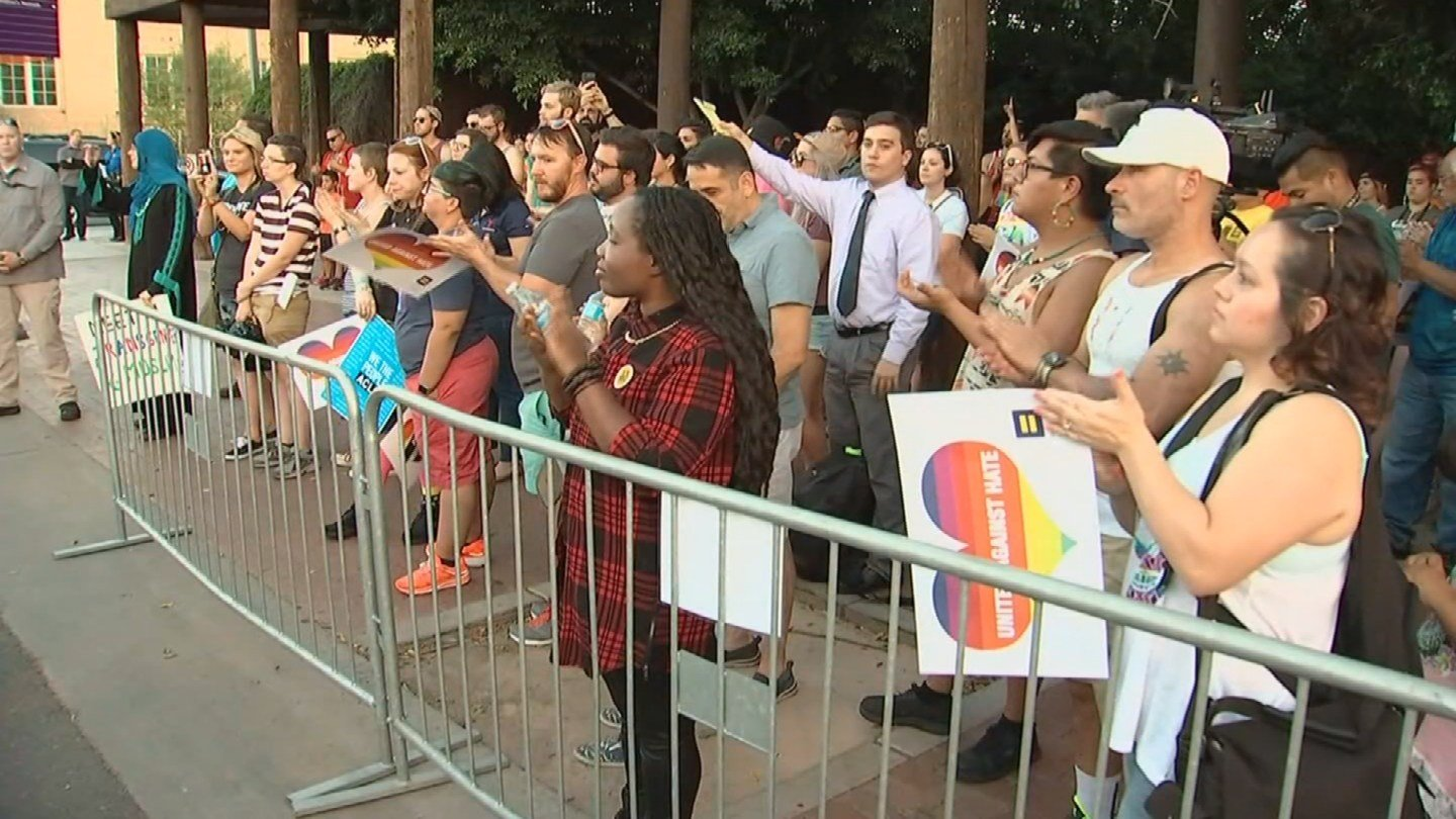 Thousands of people were in downtown Phoenix to promote a message of unity and equality on Sunday at the Equality March. (Source: 3TV/CBS 5)