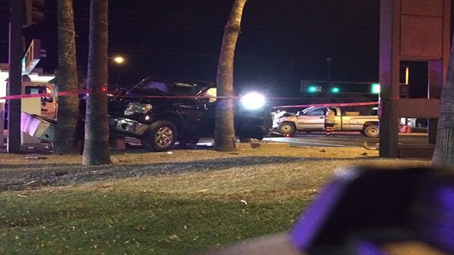 A two-vehicle accident occurred after a truck ran a red light. (Source: 3TV/CBS 5)