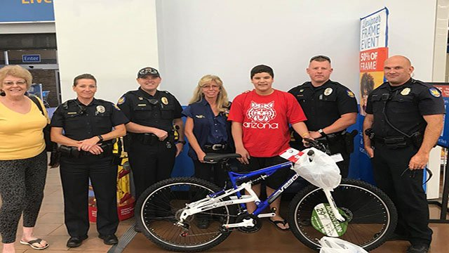 Phoenix police replaced a 13-year-old's stolen bicycle. (Source: Phoenix Police Dept.)