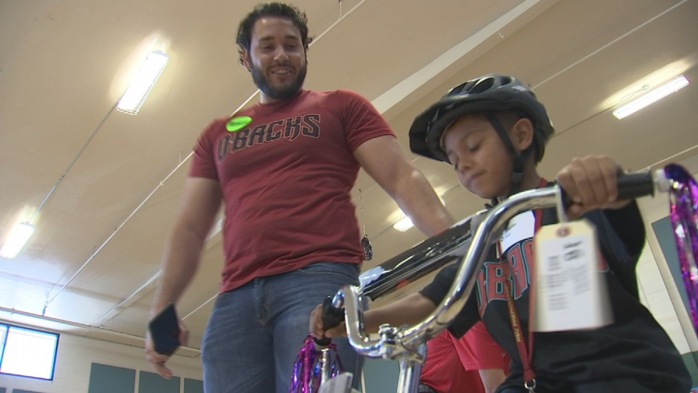 Including the new bikes, kids got to take part in an obstacle course. (Source: 3TV/CBS 5)