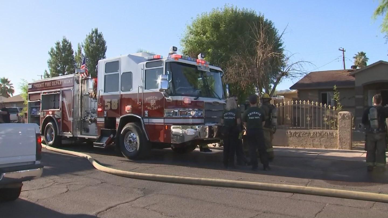 Phoenix firefighters helped control a dryer fire in southwest Phoenix. (Source: 3TV/CBS 5)