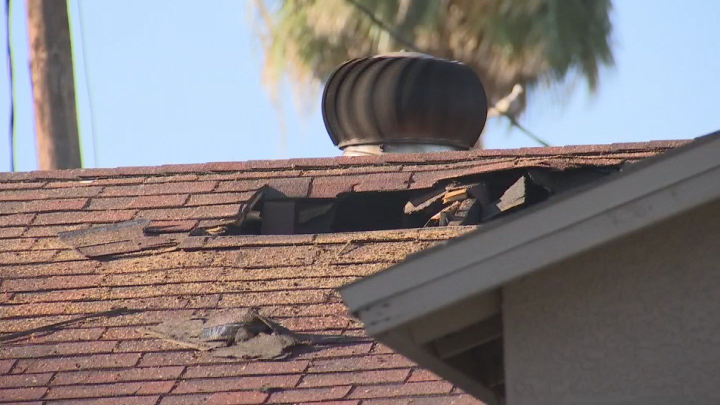 The fire spread to the house and attic. (Source: 3TV/CBS 5)