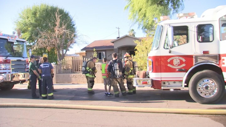 Phoenix fire said no one was injured. (Source: 3TV/CBS 5)