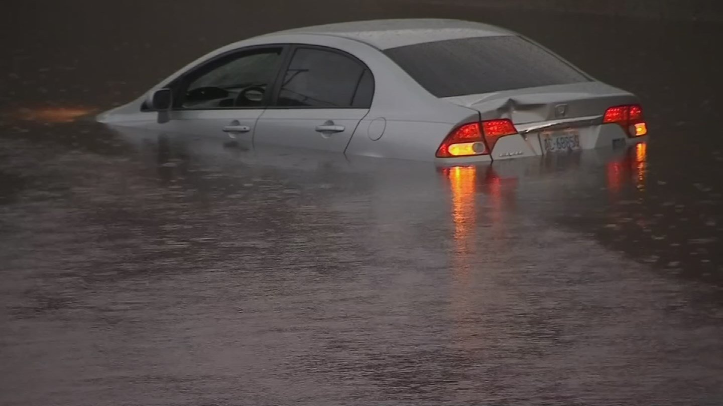 Every year, drivers find themselves in this predicament during monsoon storms. Don't be one of them! (Source: 3TV/CBS 5 file)