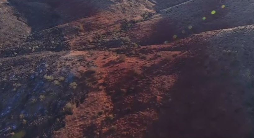 This is a aerial view of the Tee Fire on Monday, June 12.  (Source: 3TV/CBS 5)