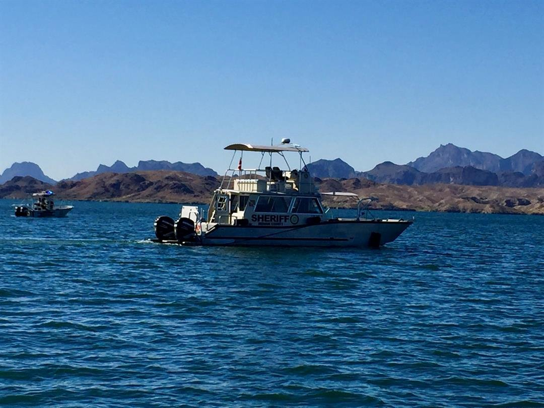 MCSO Boating Safety vessels searching for missing female subject from Saturday (Source: Mohave County Sheriff's Office)
