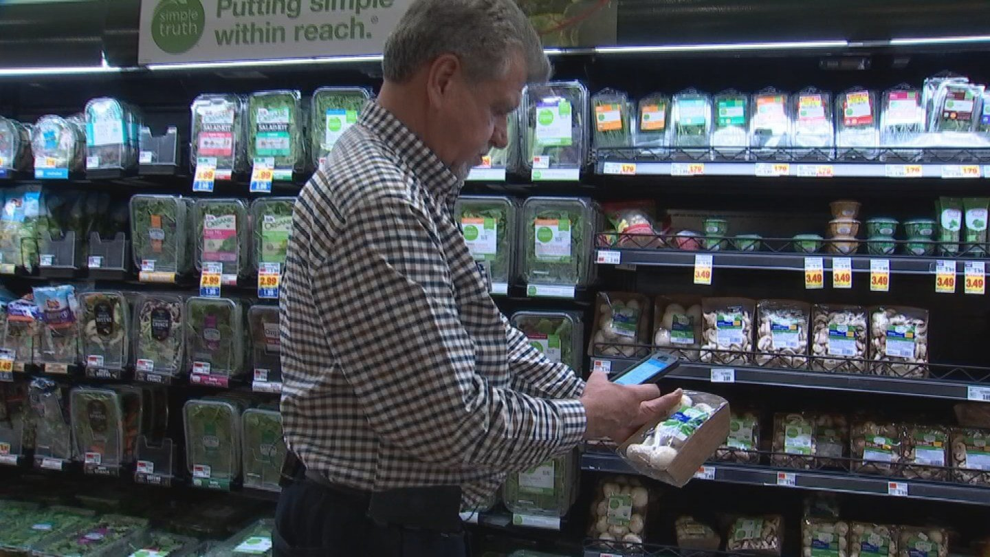 Fry's grocery store offers customers the alternative checkout option, Scan Bag Go.