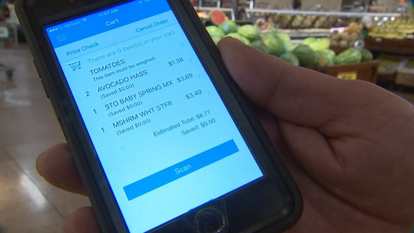 Customers can track their bill as they go and pay when they are done shopping.