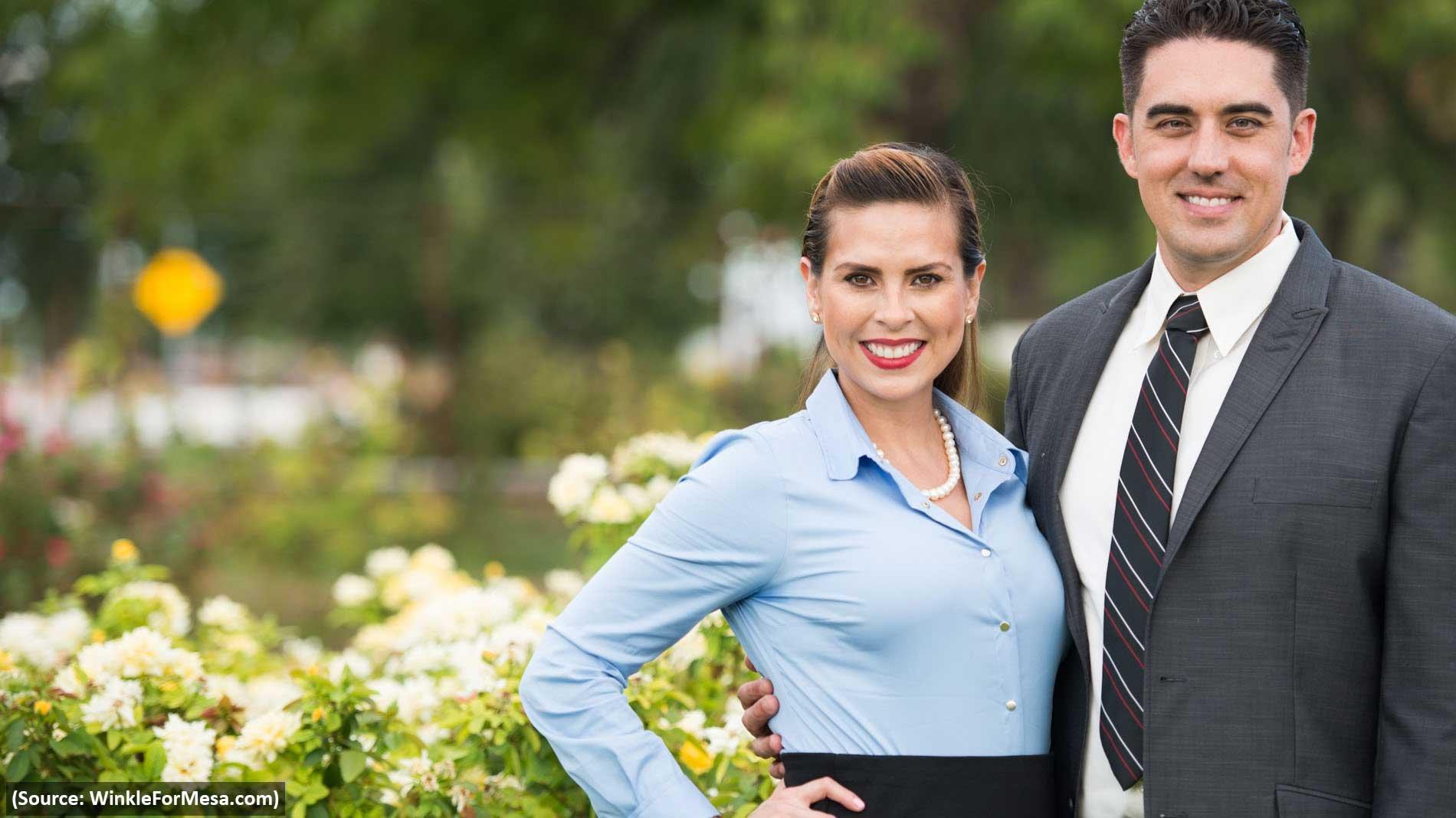 Mesa City Councilman Ryan Winkle and his wife, Erika (Source: WinkleForMesa.com)