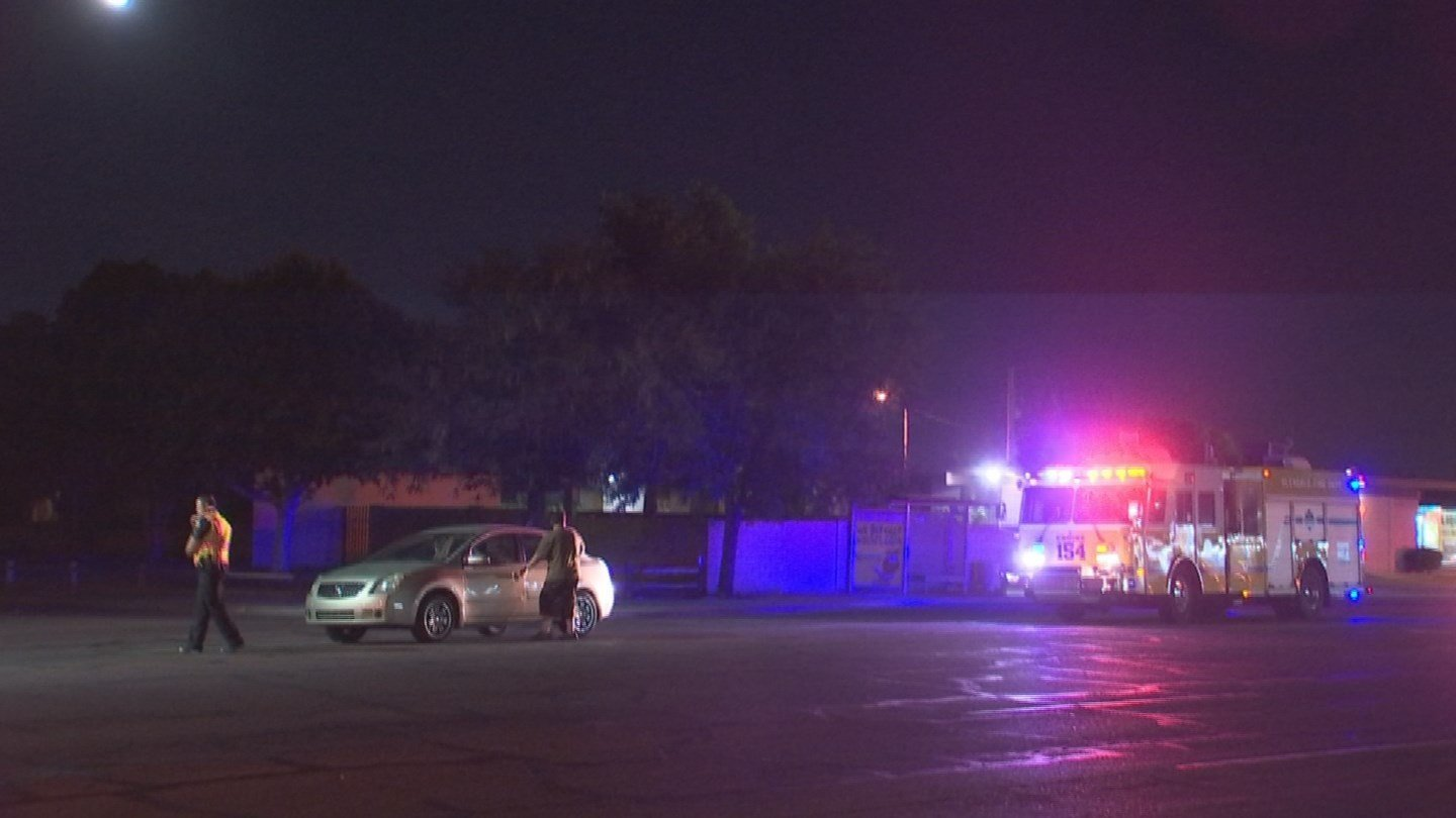 A woman ran into traffic and was struck by a car, police said. (Source: 3TV/CBS 5)