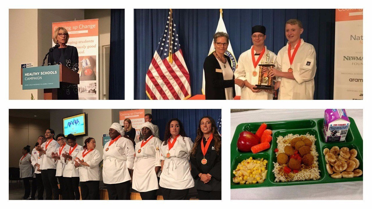 Two Arizona students cooked up third place finish in a national cooking contest. (Source: Cooking Up Change)