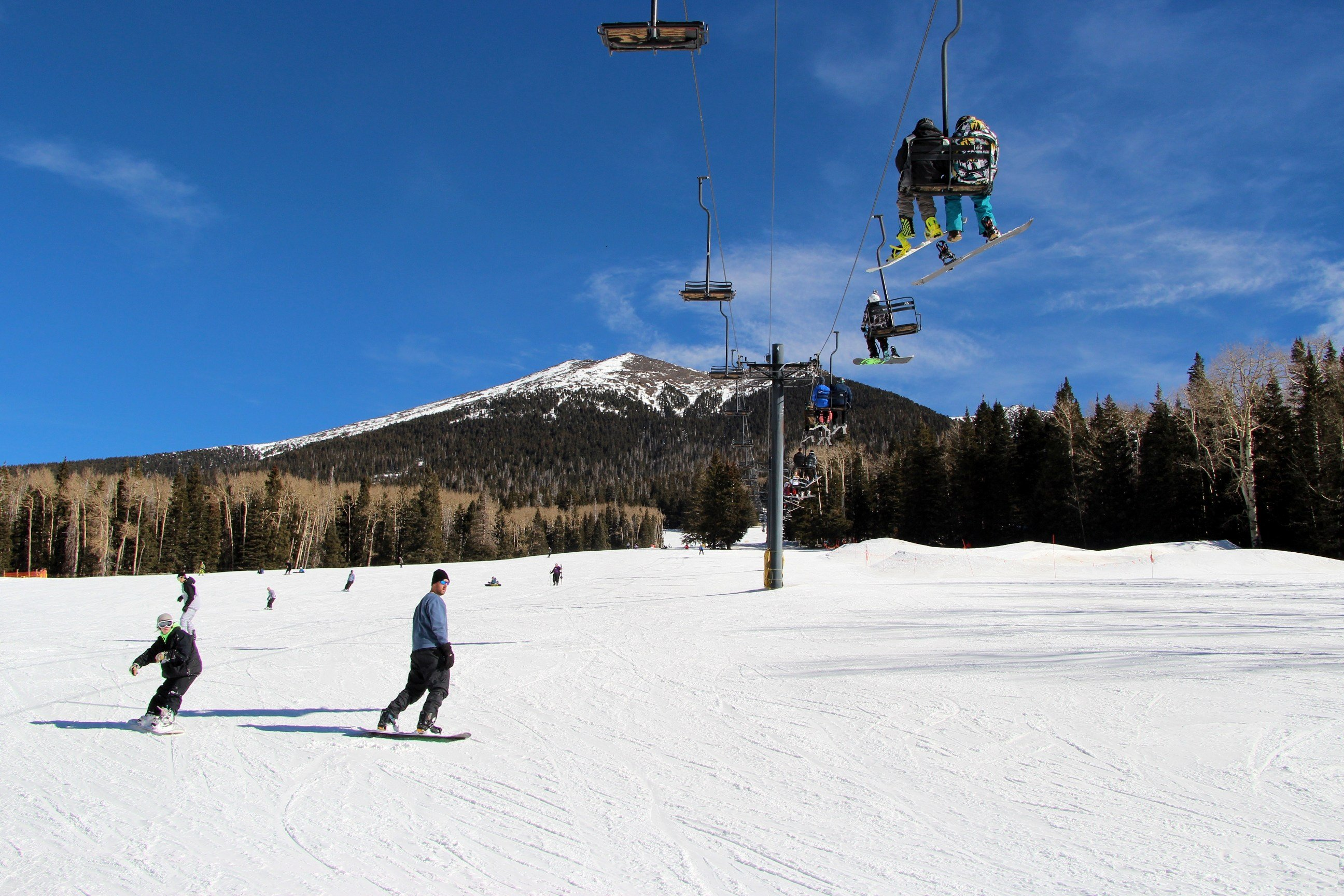The new quad chairlift will increase the overall uphill capacity. (Source: Arizona Snowbowl)