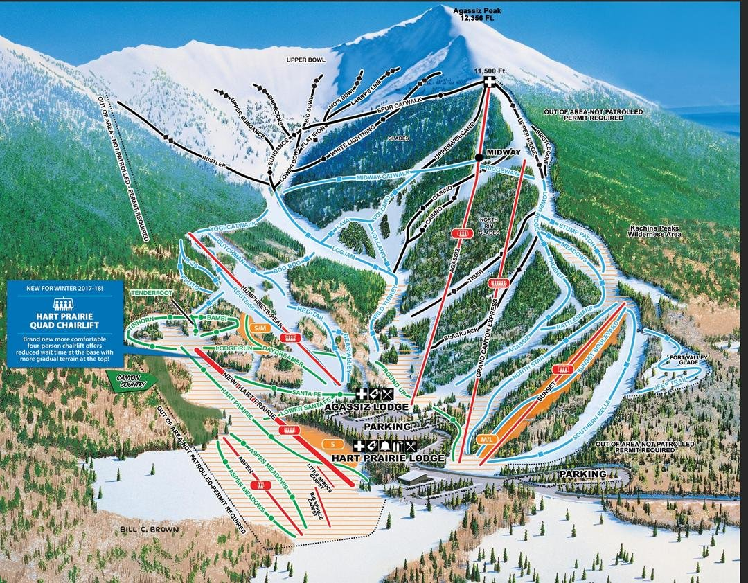 The installation of the quad chairlift is part of a $15 million capital improvement program for the 2017/2018 season. (Source: Arizona Snowbowl)