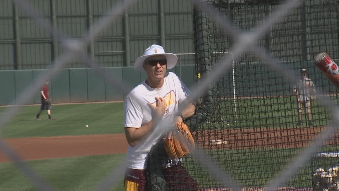 Murphy has struck up a relationship with current ASU Head Coach Tracy Smith. (Source: 3TV/CBS 5)