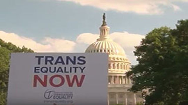 Transgender individuals were in Washington to lobby for passage of the Equality Act, which would amend civil rights laws to cover prohibitions against transgender discrimination. (Source: Emma Lockhart/Cronkite News)