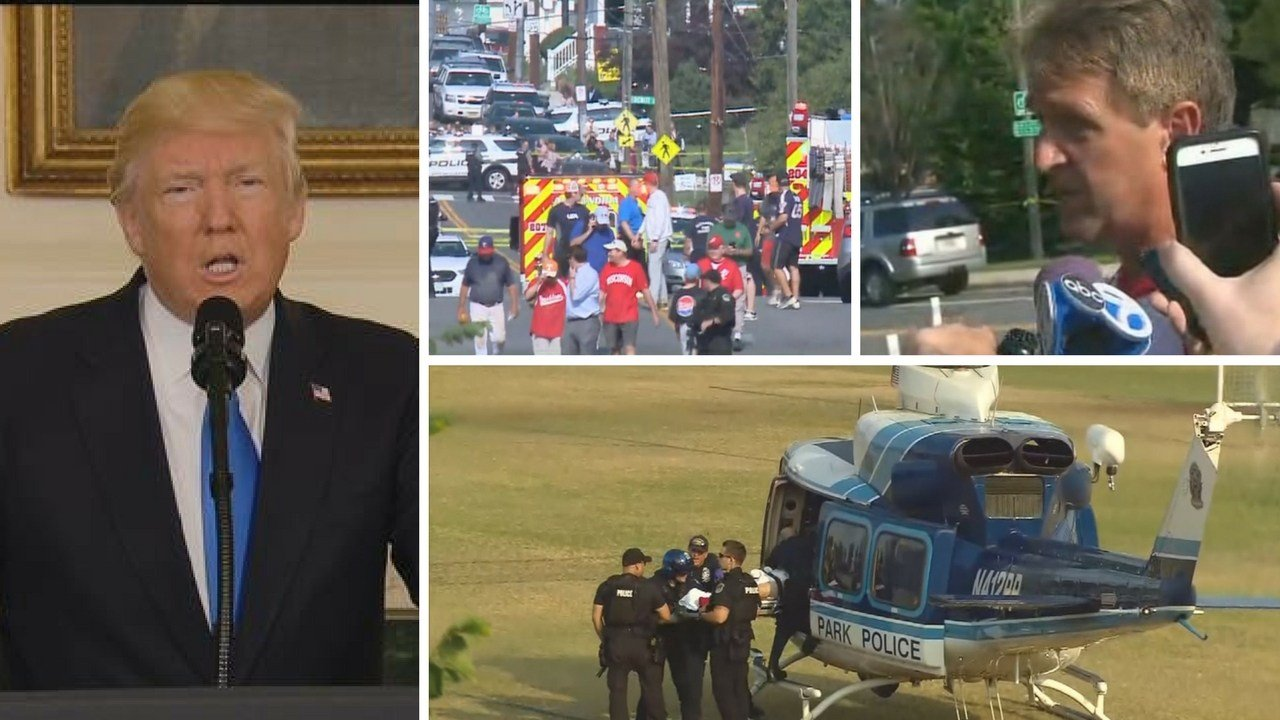 President Donald Trump on Wednesday called for unity in the wake of the shooting at a Republican congressional baseball practice that injured five people, including a top House Republican. (Source: CBS and CNN)