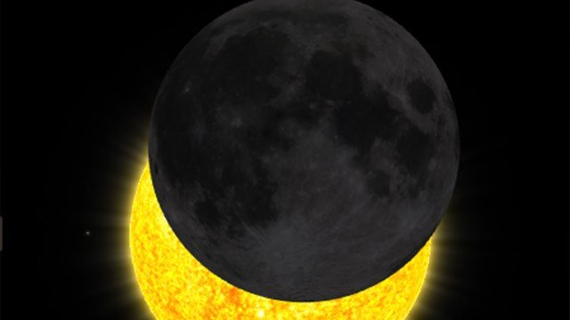 What the eclipse will look like at 10:35 a.m. (Source: NASA)