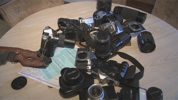 Authorities returned Randall's cameras and stolen car to him. (Source: 3TV/CBS 5)