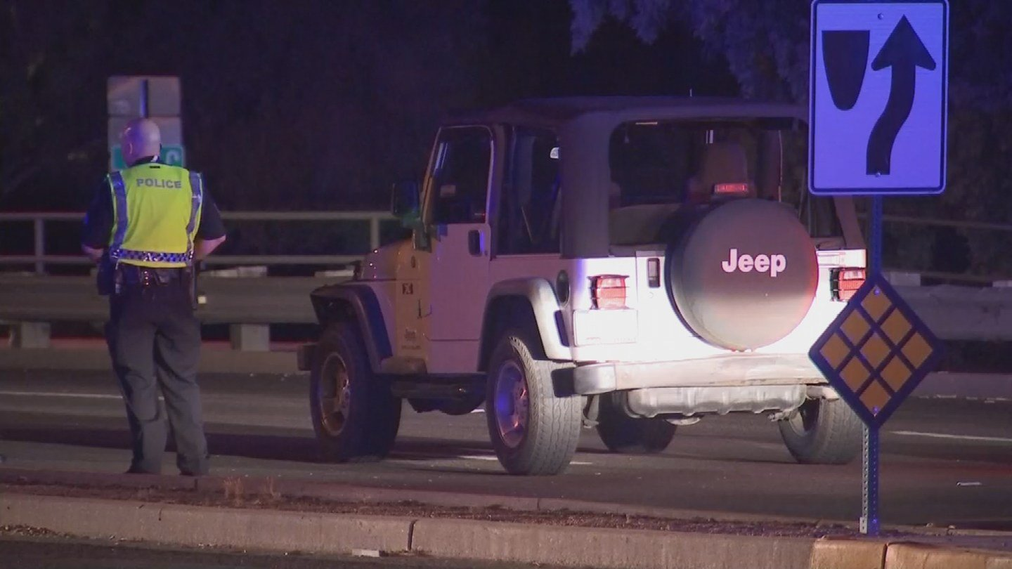A woman in her 20s was struck by a Jeep after exiting her ride from Uber in Scottsdale. (Source: 3TV/CBS 5)