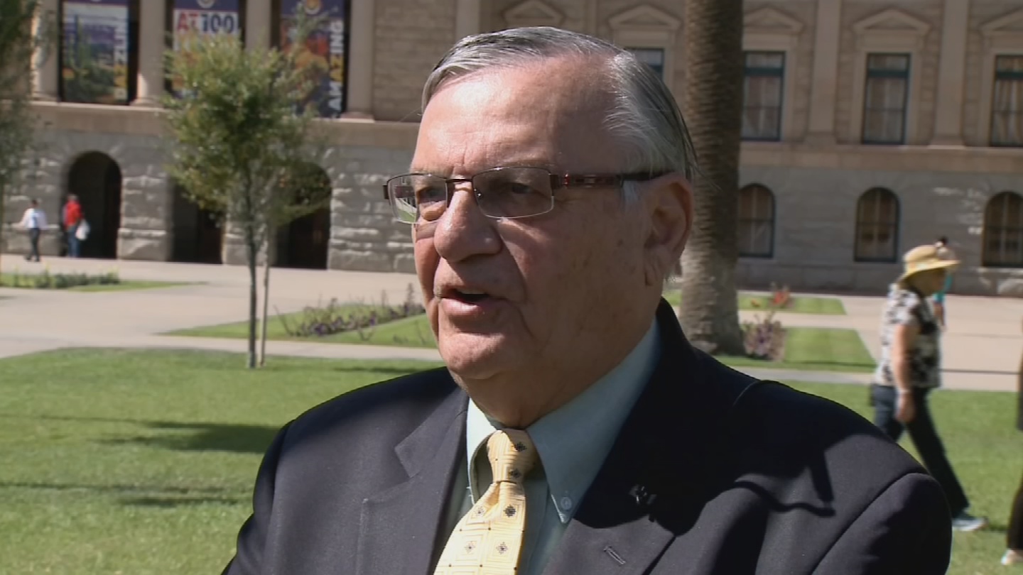 Former Sheriff Joe Arpaio. (Source: 3TV/CBS 5)