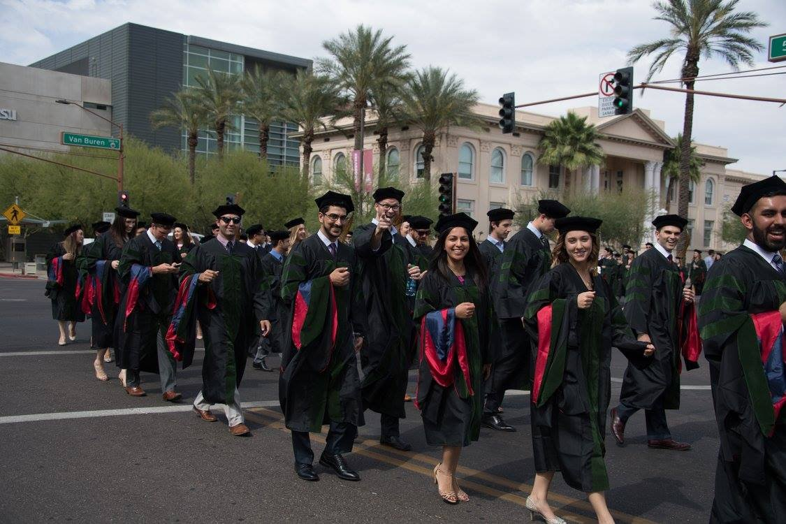 Commencement 2017 - Procession to Symphony Hall (Source: University of Arizona College of Medicine - Phoenix via Facebook)